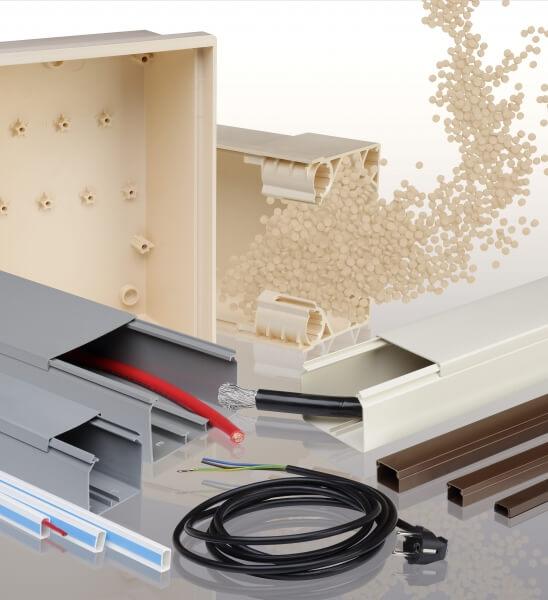 PVC Granulat für elektrotechnische Komponenten